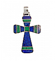 Sterling Silver Mixed Stone Cross