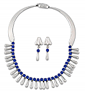 Sterling Silver - Lapis Lazuli Beads and Drops set