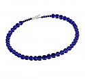 8 mm Lapis Lazuli Bead Necklace with 6 mm Beads Extender