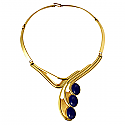 Art Deco Lapis Lazuli and Gold Vermeil Necklace