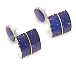 Square, Division Module Sterling Silver Cuff Links