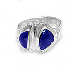 Two Stone High Relieve Crown Ring