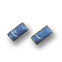 18K Gold Rectangular Single Stone Earrings