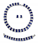 Sterling Silver and Lapis Lazuli Wedge Set