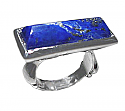 Sterling Silver Long Rectangular Cabochon Ring