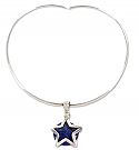 Sterling Silver and Lapis Lazuli Star Necklace