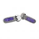 Hammered Lapis Lazuli Hanging Earrings