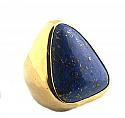 18K Gold Triangular Chevalier Ring