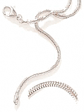 30mm, 17 Inches Sterling Silver Serpentine Chain