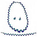 Lapis Lazuli and Malachite Triangular Hinge Set