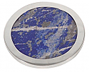 Lapis Lazuli Coasters with Silver Plated Edge