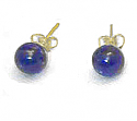 6 mm or 8 mm 18K Gold Post Bead Earrings