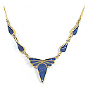 Lapis Lazuli and 18K Gold Ribbon Semicollar
