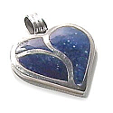Sterling Silver Artistic Heart Charm