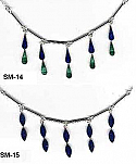 Sterling Silver Semi Collar with Double Tier Stones