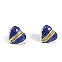 18K Gold Sculpted Heart Post Earrings
