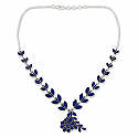 Sterling Silvar and Lapis Lazuli Petals Necklace
