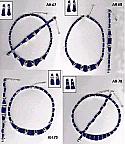 Fan Style Set with Rectangular Lapis Lazuli Stones