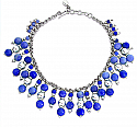 Sterling Silver and Lapis Lazuli Beads Aurora Rays Necklace