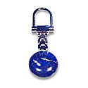 Lapis Lazuli Key Holders: Round Silver Plated Key Holder