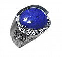Hammered Sterling Silver Cabochon Ring