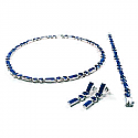 Classic Round and Rectangular Module Lapis Lazuli Set