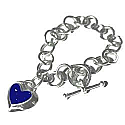 Relieved Heart Charm Toggle Bracelet