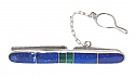 Lapis Lazuli and Sterling Silver Tie Bar