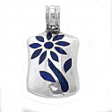 Sterling Silver and Lapis Lazuli Rectangular Tree of Life Pendant