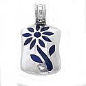 Sterling Silver and Lapis Lazuli Rectangular Tree of Life Pendant