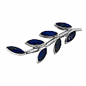 Sterling Silver and Lapis Lazuli Ivy Brooch