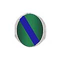 Lapis Lazuli and Malachite Oval Chevalier Ring