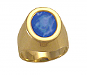 Lapis Lazuli and 18K Gold Oval Signet Ring