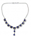 Sterling Silver and Lapis Lazuli Daisy Semi-collar