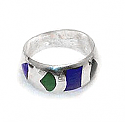 Our MOD Inlayed Sterling Silver Band Ring