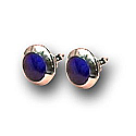 18K Gold Wide Frame Round Post Earrings