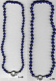 6mm and 8mm Lapis Lazuli Bead Necklace