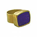 18K Gold and Lapis Lazuli Egyptian Signet Ring