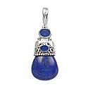Lapis Lazuli Arabesque Relieved Pendant