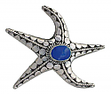 Sterling Silver and Lapis Lazuli Starfish Brooch