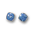 Medium Single Stone Post Earrings