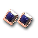 18K Gold Wide Frame Squared Post Earrings