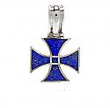Triangular Lapis Lazuli Cross