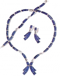 Double Ribbon Shaped Lapis Lazuli Set