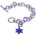 Reversible Star of David Toggle Bracelet