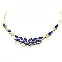 Lapis Lazuli and 18K Gold Ivy Leaves Semicollar
