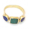 18K Gold Three Stone Ring