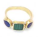 18K Gold Three Stone Ring