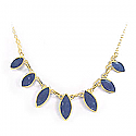 Lapis Lazuli and 18K Gold Oval Semicollar