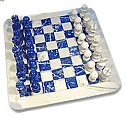 Lapis Lazuli and Marble Chess Set